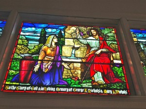 woman at the well stained glass