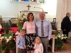 Easter baptism Eli and Brianna Suhl